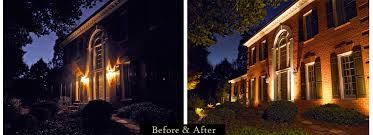 Before and After Security Lighting from Pyramid Electric Service.